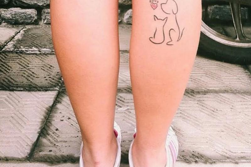Dicas Femininas|Tatoos Delicadas | Dog Cat