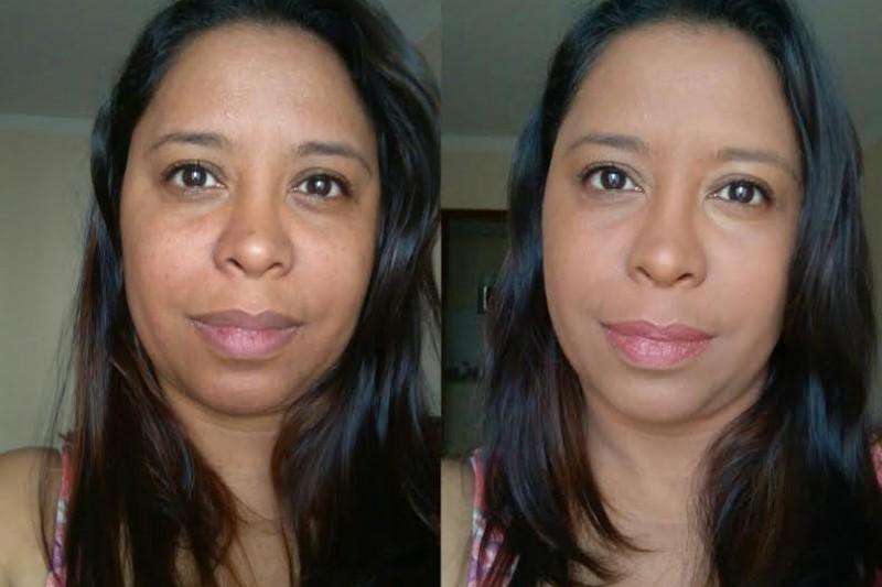 Maquiagem Feminina   Base Efeito Matte Vult Antes e Depois