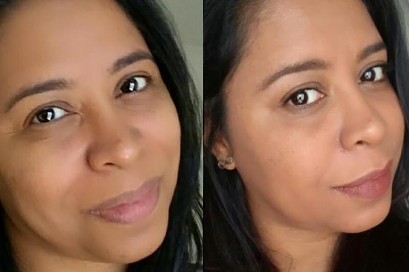 Maquiagem Feminina | Base Color Adapt Make B Antes - e - Depois
