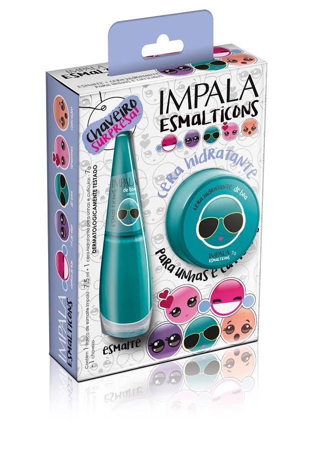 Unhas Femininas   Impala Coleção Esmalticons Kit Cera Para Unhas