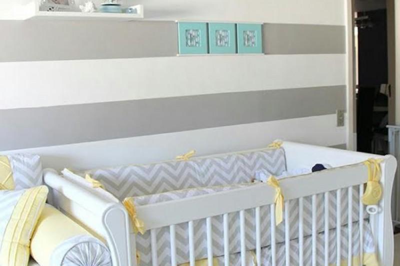 Amado Dica De Decoração   Quarto Do Bebê Cinza Amarelo - Vem Comigo Que  XO79