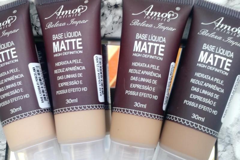Maquiagem Pele Negra | Base Líquida Matte Amor Infinito Resenha