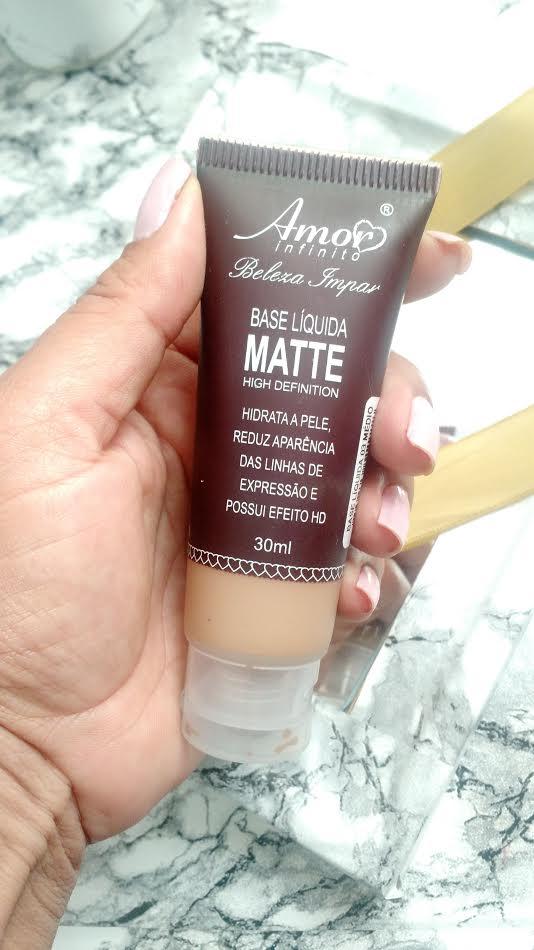 Maquiagem Pele Negra | Base Líquida Matte Amor Infinito