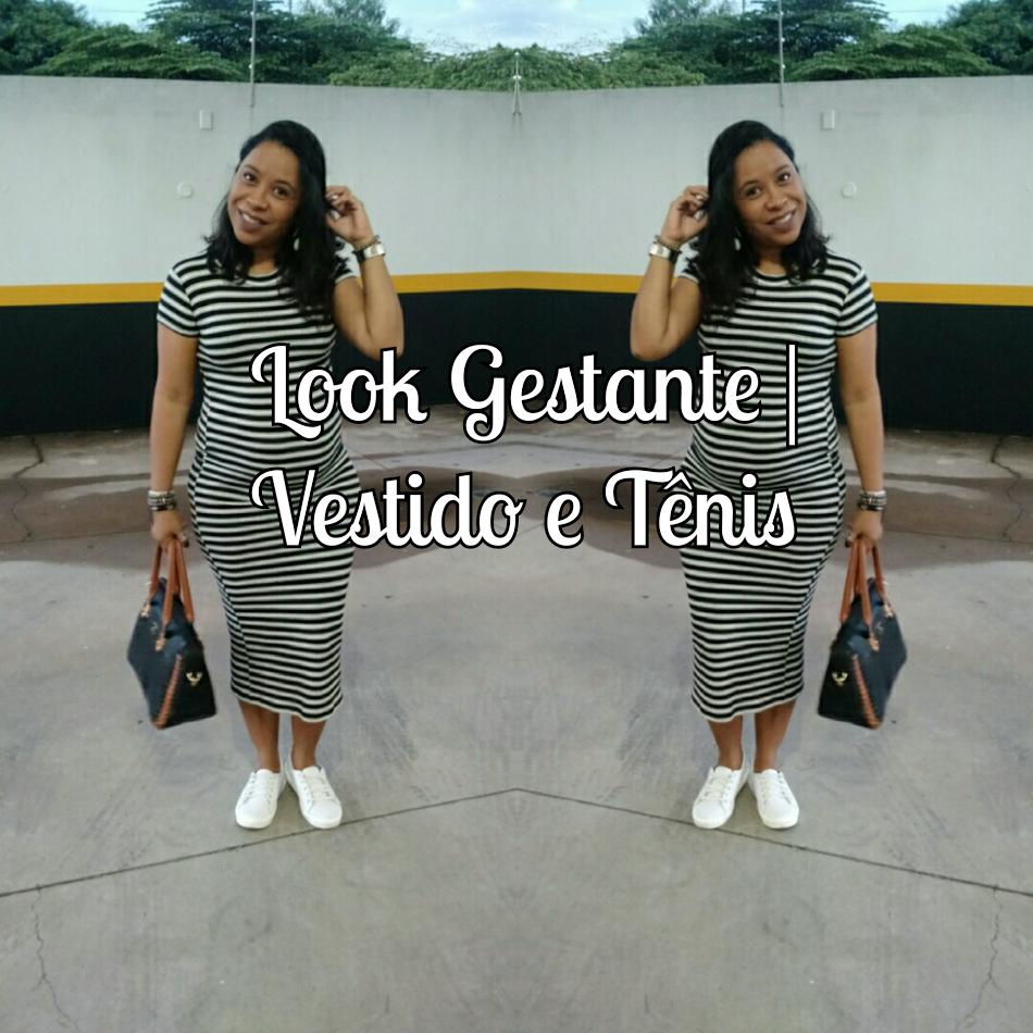 Look Gestante | Vestido E Tênis