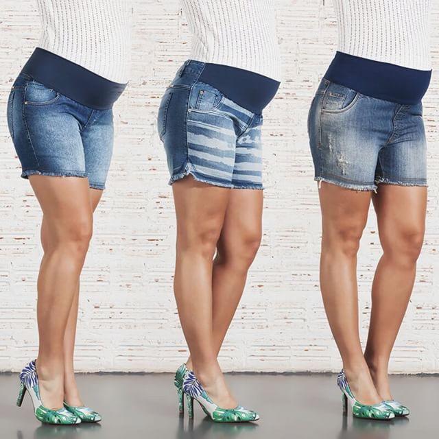 Moda Gestante | Look Grávida Bermuda Palas