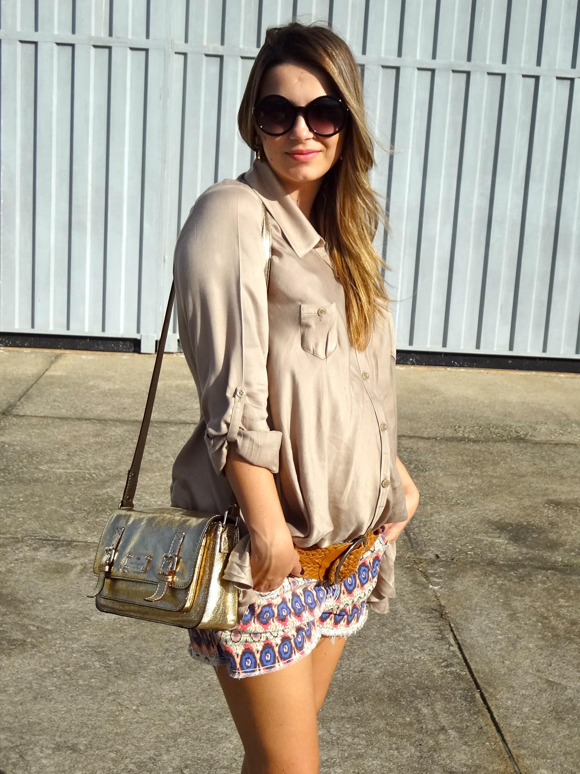 Moda Gestante | Look Grávida Bermuda Post