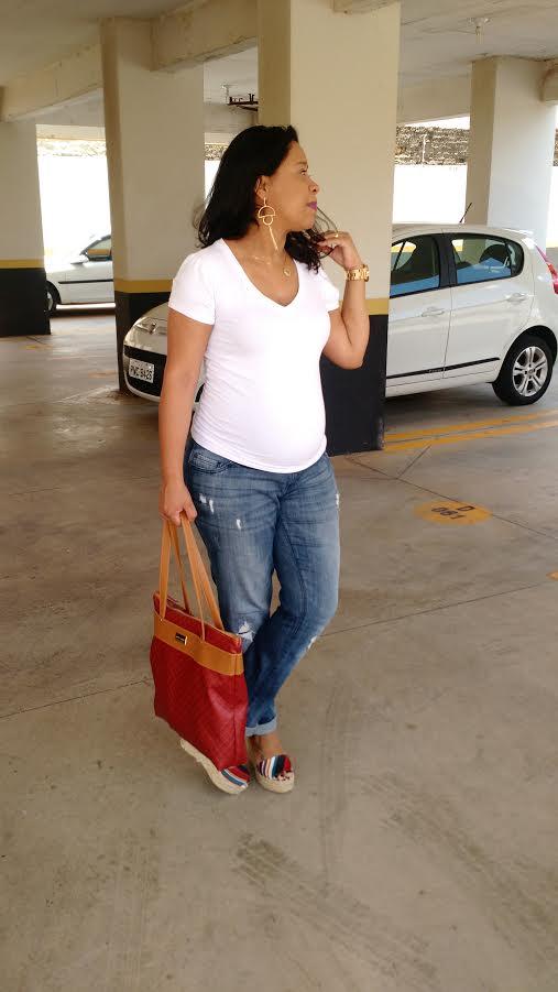 Look Gestante | Calça Jeans Looks