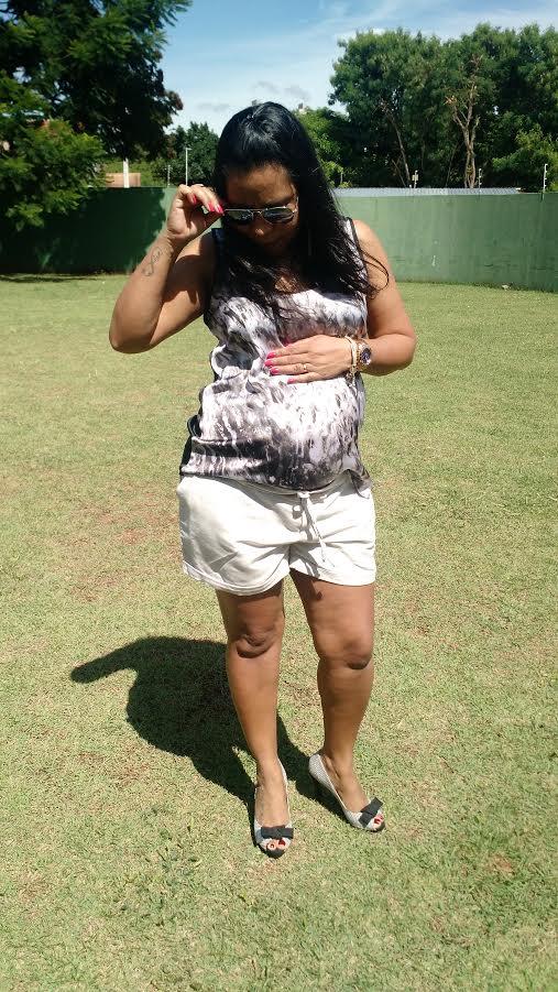 Look Do Dia | Chá Da Lívia Mother To Be Shorts