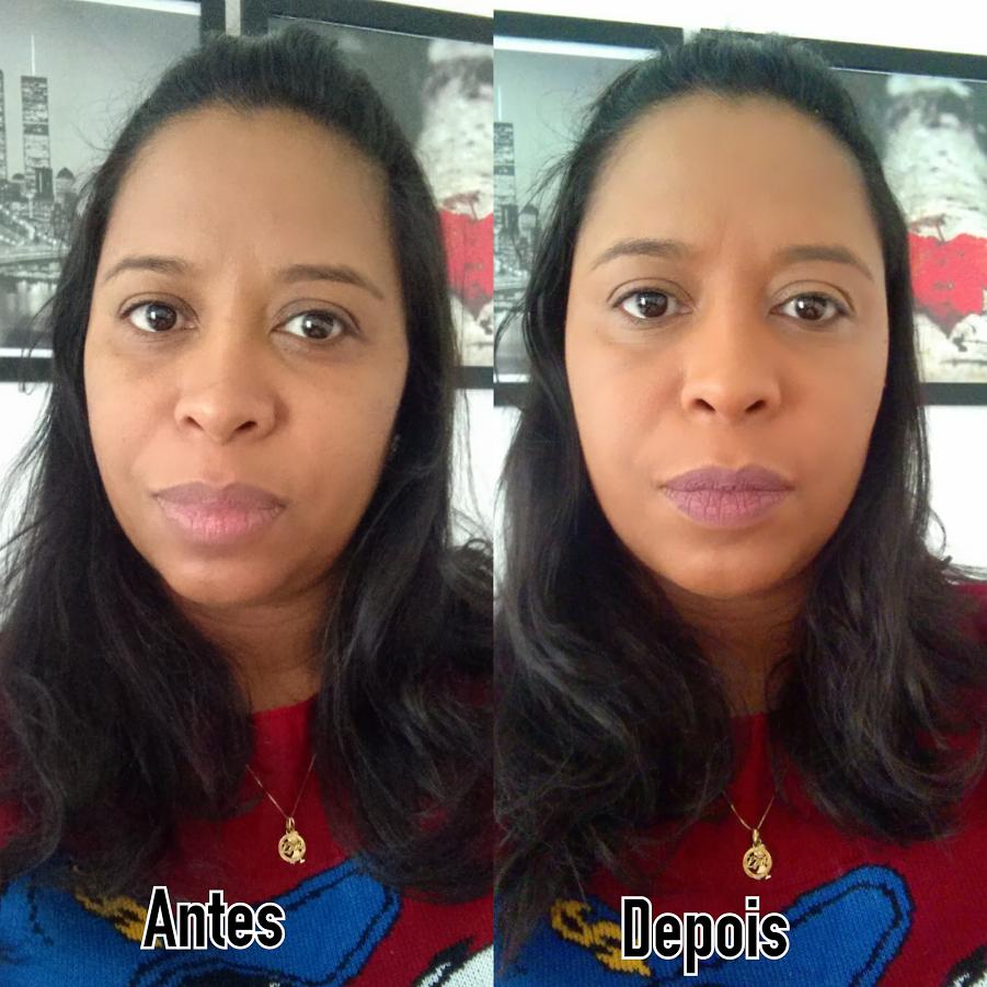 Resenha De Maquiagem | Base Ruby Rose Antes Depois
