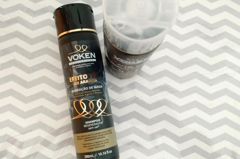 Testei   Linha Efeito Teia De Aranha Da Voken Shampoo