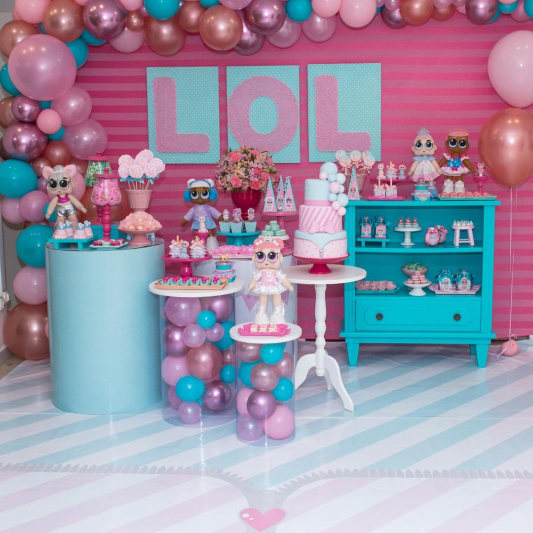 Decoraç u00e3o Para Festas Lol Suprise Vem Comigo Que Te Conto -> Decoração De Festa Lol Simples