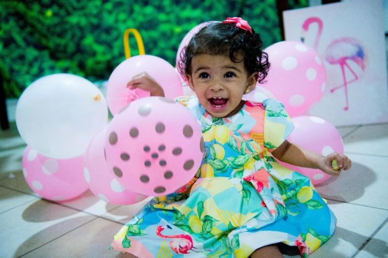 Um Ano Da Lívia | Decoração De Flamingo Bebê