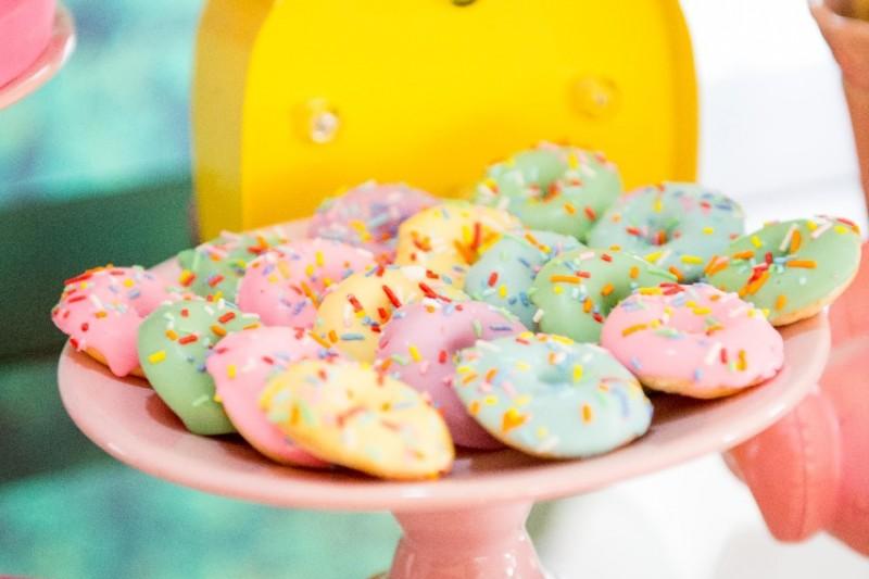 Um Ano Da Lívia | Decoração De Flamingo Donuts-