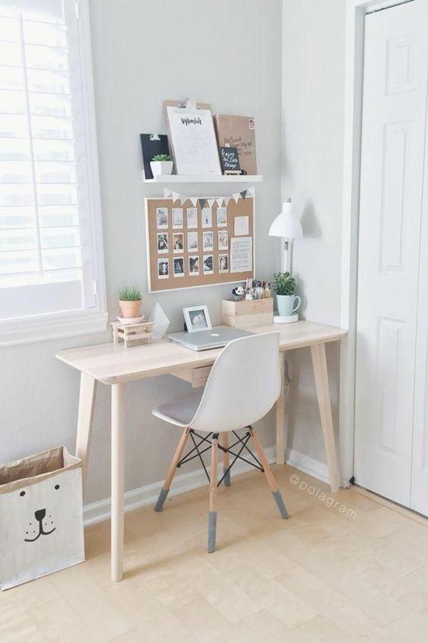 Trabalhar em Casa | Inspirações de Home Office Pequeno Cantinho