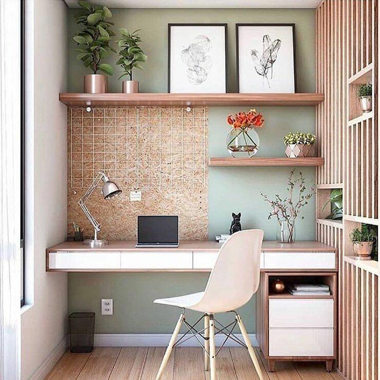 Trabalhar em Casa | Inspirações de Home Office Pequeno Quero