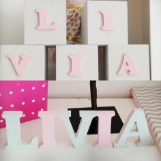 Faça Você Mesma| Cubos Com Letras Em Mdf